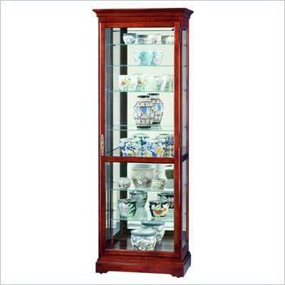 Howard Miller Chesterfield Eight Shelf Display Curio Cabinet