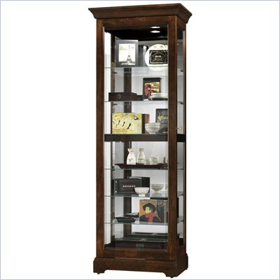 Howard Miller Cherry Bordeaux Martindale Slide Curio Cabinet
