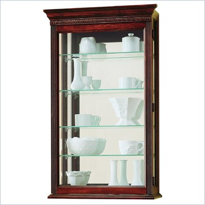 Howard Miller Edmonton Wall Display Curio Cabinet
