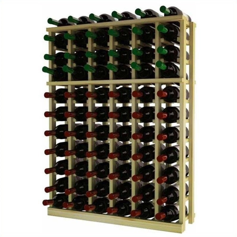 Wine Cellar Innovations Traditional Series 37 Half Height Pine Wine Rack
