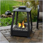 Real Flame Sierra Black Outdoor Gel Fuel Fireplace in Black