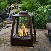 Real Flame Sierra Copper Outdoor Gel Fuel Fireplace in Copper