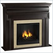 Real Flame Mt Vernon Gel Fuel Fireplace in Dark Walnut