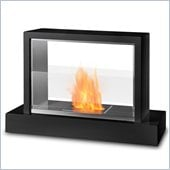 Real Flame Insight Ventless Gel Fuel Fireplace in Black Finish