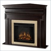 Real Flame Mt. Vernon Corner Electric Fireplace in Dark Walnut