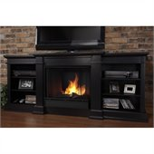 Real Flame Fresno Indoor Gel TV Stand Fireplace in Black