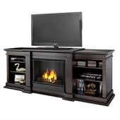 Real Flame Fresno Indoor Gel TV Stand Fireplace in Dark Walnut