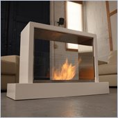 Real Flame Insight Ventless Gel Fuel Fireplace in White Finish