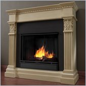 Real Flame Gabrielle Indoor Gel Fuel Fireplace in Antique White