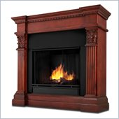 Real Flame Gabrielle Indoor Gel Fuel Fireplace in Dark Mahogany