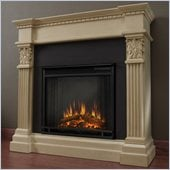 Real Flame Gabrielle Indoor Electric Fireplace in Antique White