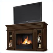 Real Flame Lannon Freestanding Ventless Gel Fireplace Espresso Finish