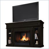 Real Flame Lannon Freestanding Ventless Gel Fireplace Dark Walnut