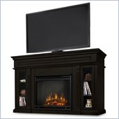 Real Flame Lannon Freestanding Electric Fireplace in Dark Walnut 