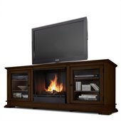 Real Flame Hudson Ventless Gel Fireplace and TV Stand in Espresso