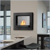 Real Flame Edgerton Gel Wall Fireplace in Black