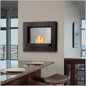 Real Flame Edgerton Gel Wall Fireplace in Rust Brown
