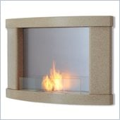 Real Flame Meridian Gel Wall Fireplace in Cream Speckle