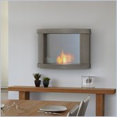 Real Flame Meridian Gel Wall Fireplace in Pebble Gray