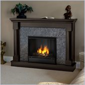 Real Flame Bennett Gel Fireplace in Dark Walnut