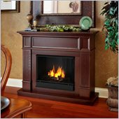 Real Flame Camden Gel Fireplace in Mahogany