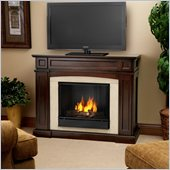 Real Flame Rutherford Gel Fireplace in Dark Mahogany