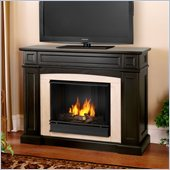 Real Flame Rutherford Gel Fireplace in Dark Walnut