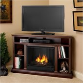 Real Flame Churchill Gel Corner Fireplace in Dark Espresso