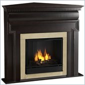 Real Flame Mt. Vernon Gel Corner Fireplace in Dark Walnut