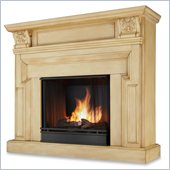 Real Flame Kristine Gel Fireplace in Antique White
