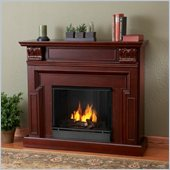 Real Flame Kristine Gel Fireplace in Mahogany