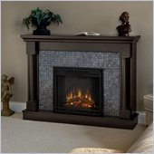 Real Flame Bennett Electric Fireplace in Dark Walnut