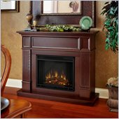 Real Flame Camden Electric Fireplace in Mahogany