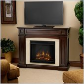 Real Flame Rutherford Electric Fireplace in Dark Mahogany