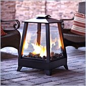 Real Flame Sonoma Outdoor Fireplace in Black Finish