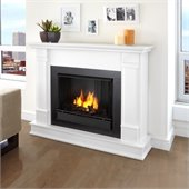 Real Flame Silverton Gel Fireplace in White Finish