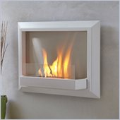 Real Flame Envision Ventless Wall Mounted Gel Fireplace in White