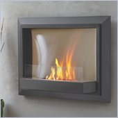 Real Flame Envision Ventless Wall Mounted Gel Fireplace in Dove Gray