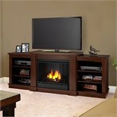 Real Flame Hawthorne Gel Fireplace TV Stand in Dark Espresso