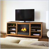 Real Flame Marco Gel TV Stand Fireplace in Walnut