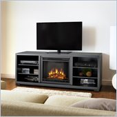Real Flame Marco Electric TV Stand Fireplace in Black