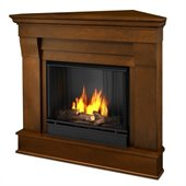 Real Flame Chateau Gel Corner Fireplace in Espresso Finish
