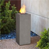 Real Flame Baltic Propane Fire Column in Glacier Gray
