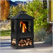 Real Flame Trestle Outdoor Fireplace