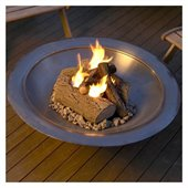 Real Flame 4 Can Outdoor Gel Fuel Fireplace Log Set