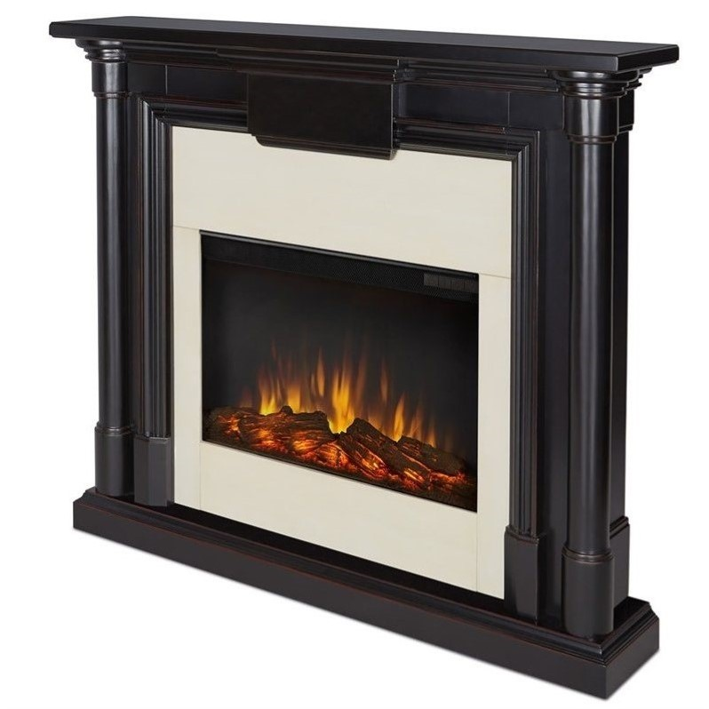 Real Flame Maxwell Indoor Slim Electric Fireplace in Black Wash