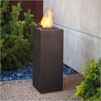 Real Flame Baltic Propane Fire Column in Kodiak Brown