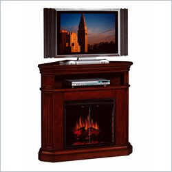 Corner Cherry Fireplace