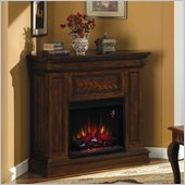 Classic Flame Phoenix Wall to Corner Electric Fireplace in Burnished Walnut