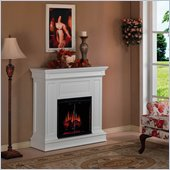 Classic Flame Phoenix Wall and Corner Electric Fireplace in White